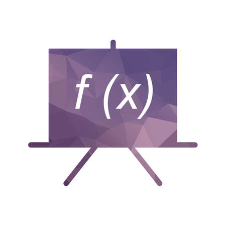 Formula filled low poly icon