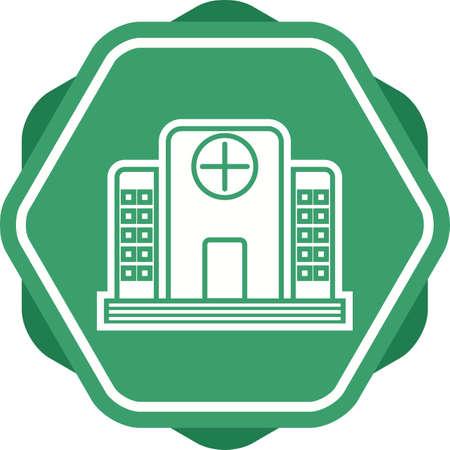 Hospital Glyph Multi color Background icon Ilustração