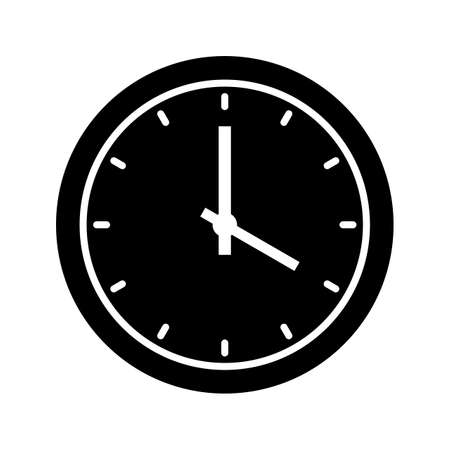 Clock Glyph Black Icon 矢量图像