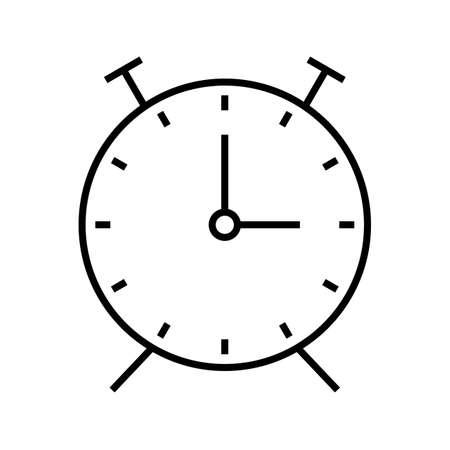 Clock Line Black Icon Ilustração