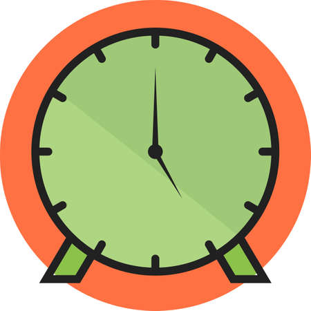 Clock Line Filled Icon