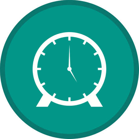 Clock Glyph Multi color Background icon Ilustração