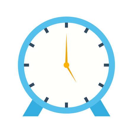 Clock flat multi color icon Ilustração