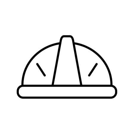 Helmet Line black Icon