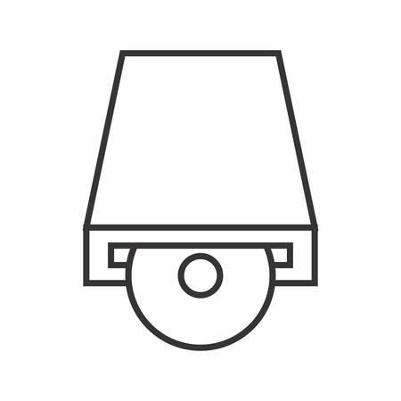 Dvd PLayer Line black Icon