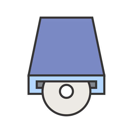 Dvd PLayer Line Filled Icon