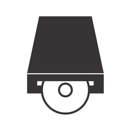 Dvd PLayer Glyph Black Icon