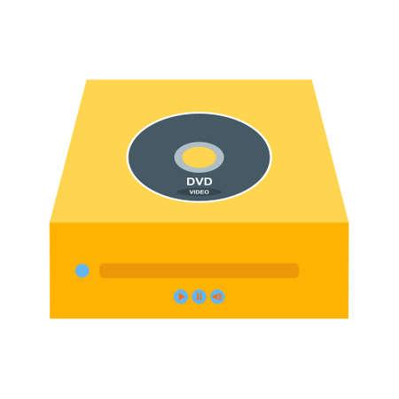 Dvd PLayer Flat Multi color Icon Ilustração