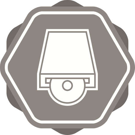 Dvd PLayer Filled Multi color background Icon
