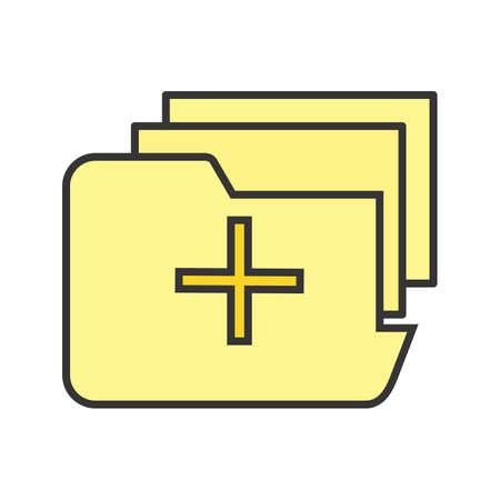 Medical Folder Line Filled Icon Ilustração