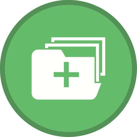 Medical Folder Filled Multicolor Background Icon