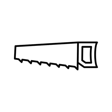 Handsaw Line Black Icon
