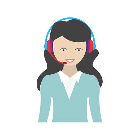 Call Centre flat multicolor icon Ilustração