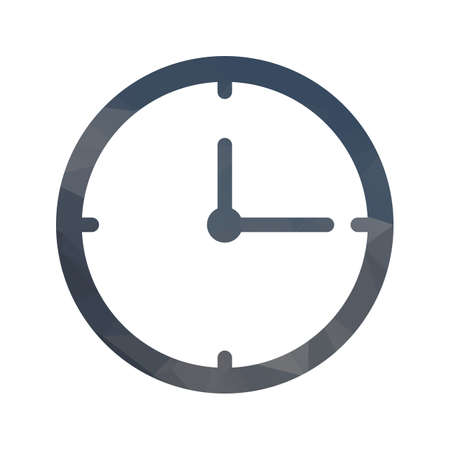 Clock Lowpoly filled icon