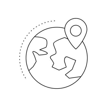 Location on Earth Line Black Icon