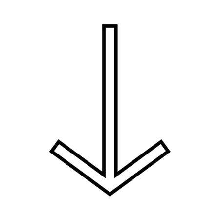 Down Line Black Icon