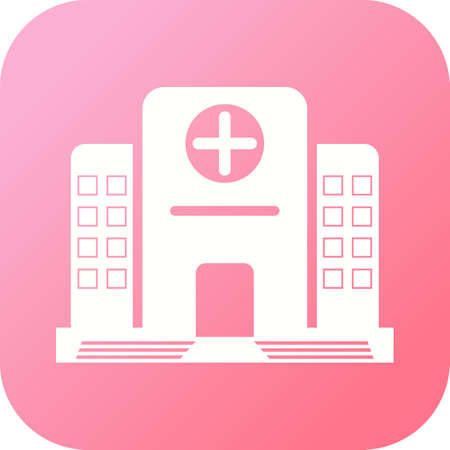 Hospital Glyph icon with gradient background