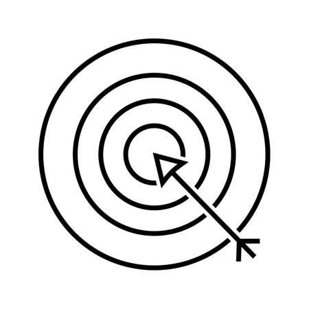 Darts Line Black Icon
