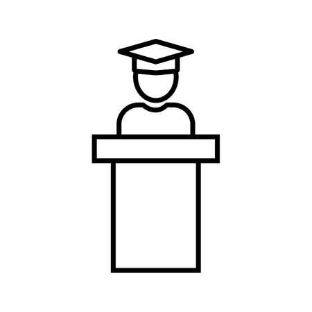 Guest Speaker Line Black Icon Ilustração