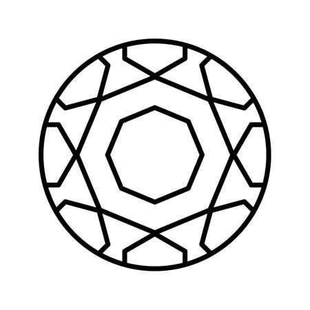 Foot Ball Line Black Icon Imagens - 122053505