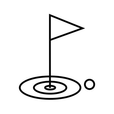 Golf Line Black Icon Ilustração