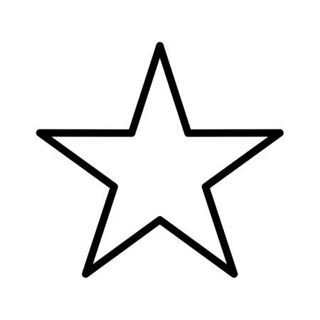 Star Line Black Icon 일러스트