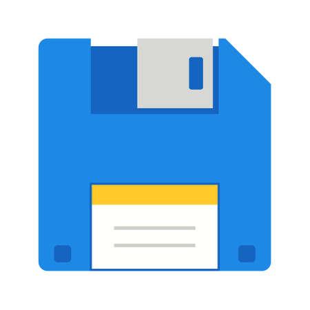 Floppy Flat mehrfarbiges Symbol Vektorgrafik