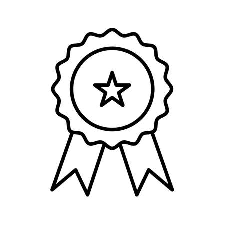 Medal Line Black Icon Ilustração