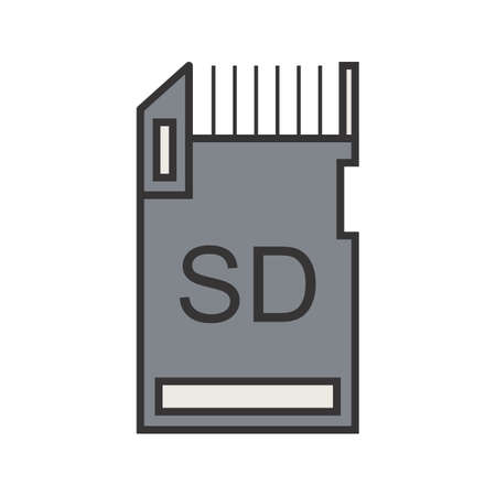 Data Storage Line Filled Icon Illustration
