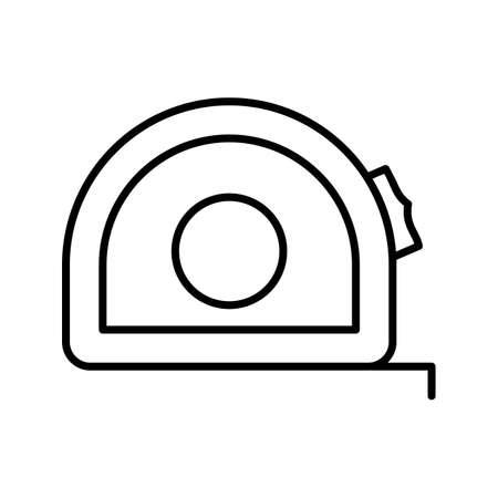 Measuring Tape Line Black Icon Ilustração