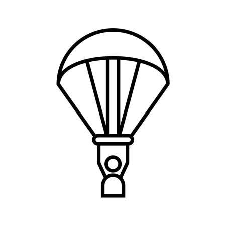 Paragliding Line Black Icon Ilustração