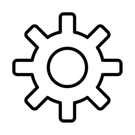 Setting Line Black Icon Illustration