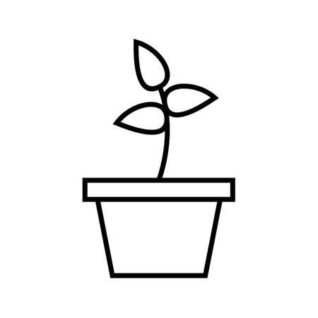 Planting Line Black Icon Ilustração