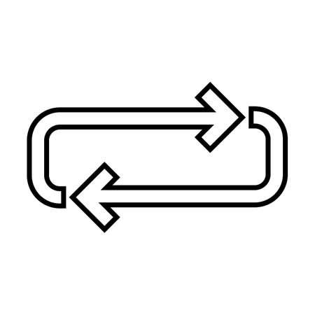 Loop Line Black Icon