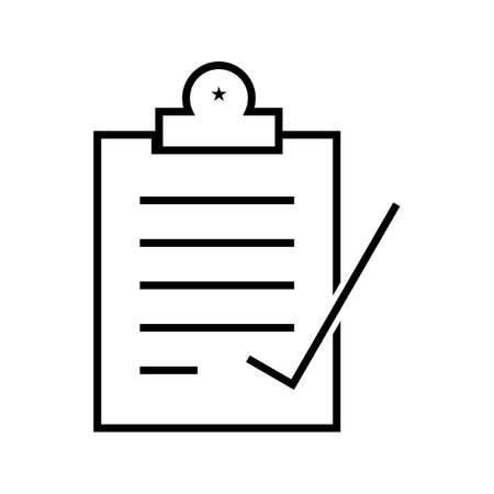 Register Line Black Icon
