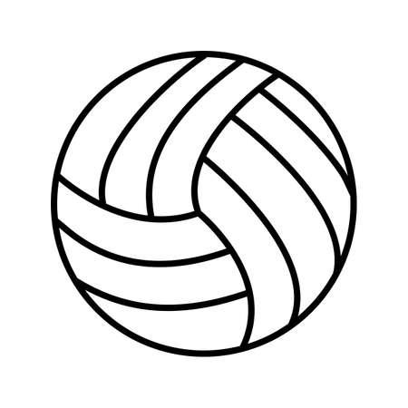 Volley ball Line Black Icon Ilustração