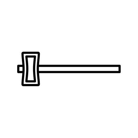 Sledge hammer Line Black Icon