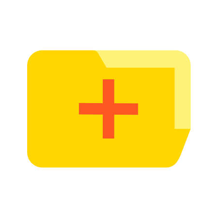 Medical Folder Flat Multi color Icon