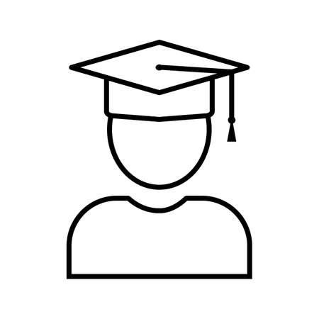 Student Line Black Icon