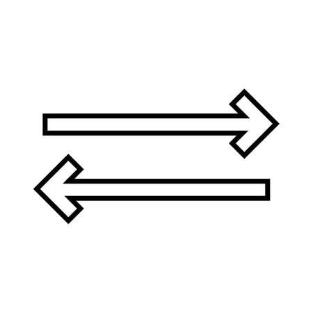 Sync Line Black Icon