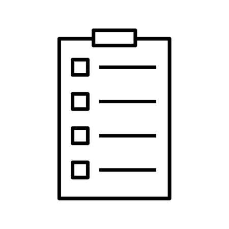 Tasks Line Black Icon Ilustração