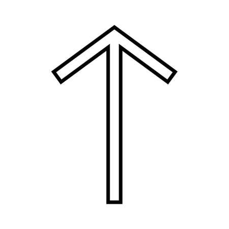Up Line Black Icon Imagens - 122053549