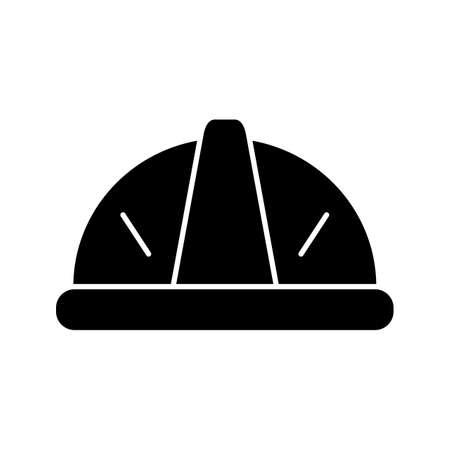 Helmet Glyph black Icon Ilustração