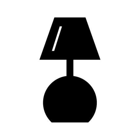 Lamp Glyph Black Icon Ilustração