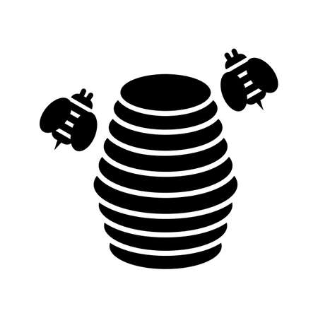 Hive Glyph Black Icon Ilustração