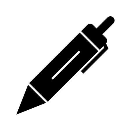 Pencil Glyph Black Icon