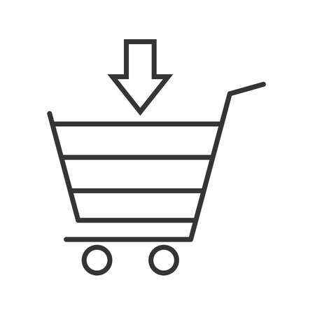 Shopping Line Black Icon