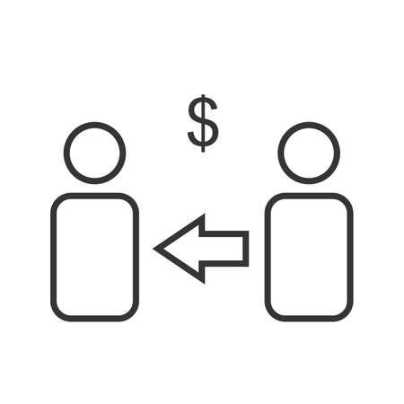 Marketing affiliate Line Black Icon Ilustração