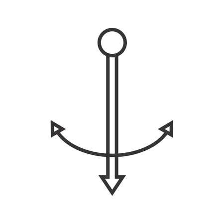 Anchor Line Black Icon Ilustração