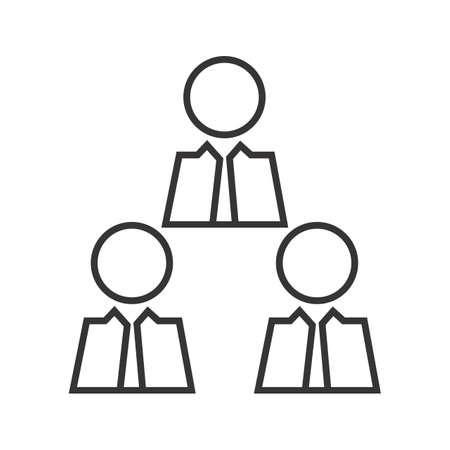 Businessman meeting Line Black Icon Ilustração